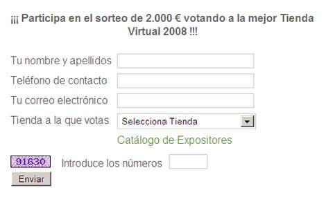 Ya podéis votar a la mejor tienda virtual 2008 de Aragón