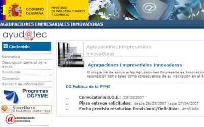 Creado el registro de Agrupaciones Empresariales Innovadoras