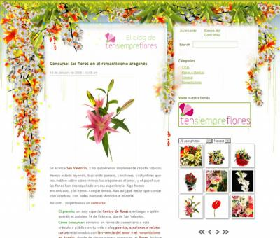 Ten Siempre Flores ya tiene blog